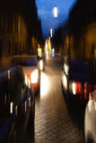 Night traffic in the old part of Rome, Italy Royalty Free Stock Photos