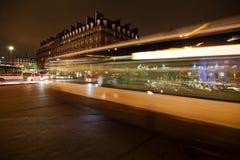 Night traffic in Paris Stock Image
