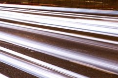 Night traffic pattern Royalty Free Stock Image