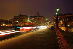 Night traffic on the Pont Neuf Stock Images