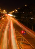 Rush Hour Traffic at night in New Delhi, India Royalty Free Stock Photos