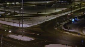 Night traffic in Saint Petersburg stock video footage