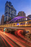 Night traffic. In sathorn road ,Bangkok Royalty Free Stock Image