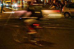 Night traffic scene in London Royalty Free Stock Photos