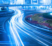 Night traffic in shanghai. Night traffic in prosperous shanghai, China Stock Image