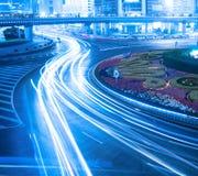 Night traffic in shanghai Stock Image