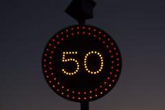 Night Traffic Signal Stock Photography