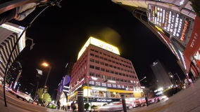 Night traffic in the streets of big modern city. Seoul, South Korea stock video