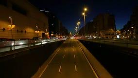 Night traffic timelapse stock video