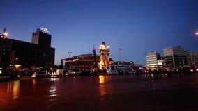 Night traffic timelapse. In Barcelona (Spain stock video footage