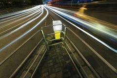Night Traffic in urban city Royalty Free Stock Image