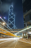 Night Traffic in urban city Royalty Free Stock Photography