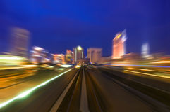 Night traffics Stock Image