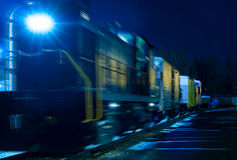 Night train blue Stock Images