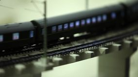 Night train express stock footage