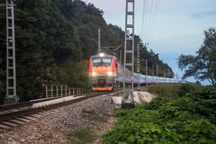 Night train Stock Images