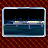 Night Train and Landscape Royalty Free Stock Photo