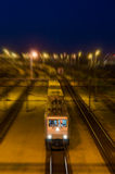 Night train. Passing by in the night Stock Image