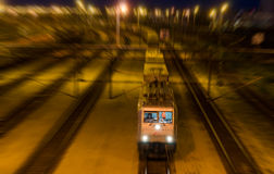 Night train royalty free stock images