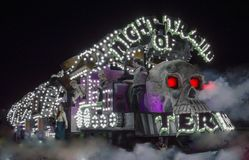 Night of the Train Photo Royalty Free Stock Photo