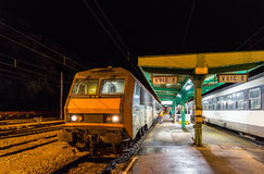 Night train to Nice in Culmont-Chalindrey station Stock Photography