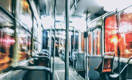 Night tram Royalty Free Stock Images