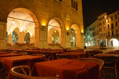 By night in Treviso, Italy Stock Images