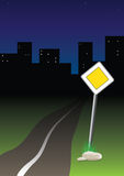 Night trip vector illustration