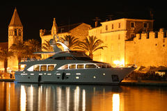 Night Trogir Royalty Free Stock Images