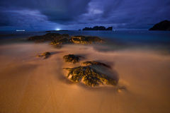 Night on the tropical beach Stock Image