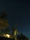 Night on a tropical beach Stock Photos