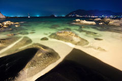 Night on the tropical beach Royalty Free Stock Photography
