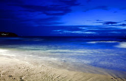 Night at tropical beach Stock Images
