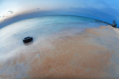 Before night on the tropical beach. Phuket. Thailand Stock Photography