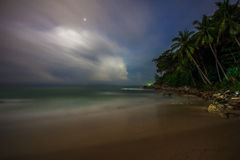 Night on the tropical beach. Phuket. Thailand Stock Photography