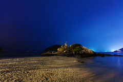 Night on the tropical beach. Phuket. Thailand Stock Photos
