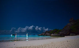 Night at the tropical island Stock Photo