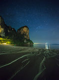 Night tropical landscape. Thailand Stock Image