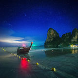 Night tropical landscape. Thailand Royalty Free Stock Image