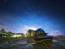 Night tropical landscape. Thailand Royalty Free Stock Images