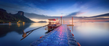 Night tropical landscape. Thailand Royalty Free Stock Photography