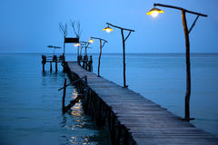 Night on the tropical sea Stock Image