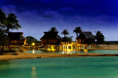 Night in tropics at the sea.Sea tropical landscape Stock Image