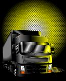 Night truck vector. Night truck urban poster Royalty Free Stock Images