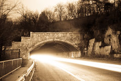 Night Tunnel Stock Photography