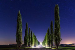 Night Tuscany landscape Royalty Free Stock Images