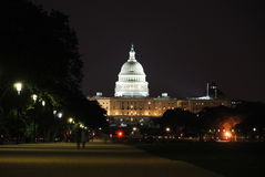 Night at U.S. Capitol Stock Photo
