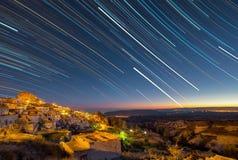 Night in Uchisar. Royalty Free Stock Image