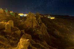 Night in Uchisar. Royalty Free Stock Photo