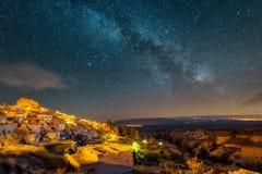 Night in Uchisar. Stock Photos
